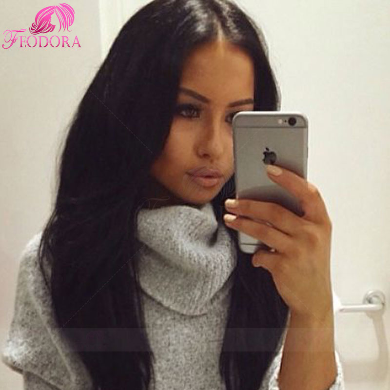 Здесь можно купить  full lace wig brazilian customized lace front human hair wigs brazilian virgin 100% human bleached natural hairline straight  Волосы и аксессуары