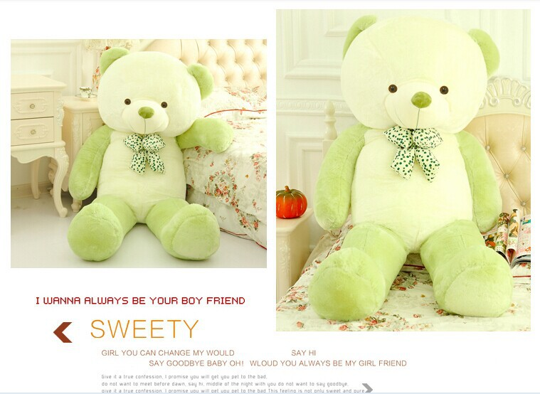100cm Finished toy 2015 Newest style bear teddy bear Fill Filler PP cotton 3colors plush gift baby gifts Christmas plush doll(China (Mainland))