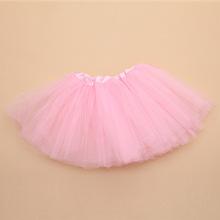 Cute Retail Baby Girls 3Layer Pink Tulle Tutus Kids Candy Color Chiffon Skirt Ballet Dance Pettiskirt Kids Birthday Party Tutus(China (Mainland))