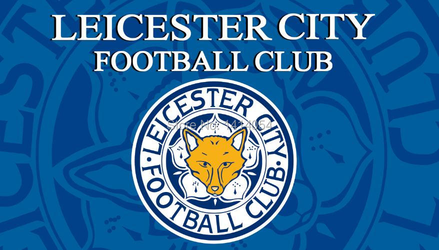 leicester city football with modified Flag 150X90CM MLS 3X5FT Banner 100D Polyester grommets custom009, free shipping(China (Mainland))