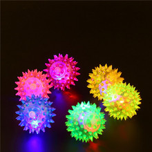 Lampeggiante light up alti bouncing balls novità sensory hedgehog sfera di vendita caldo(China (Mainland))