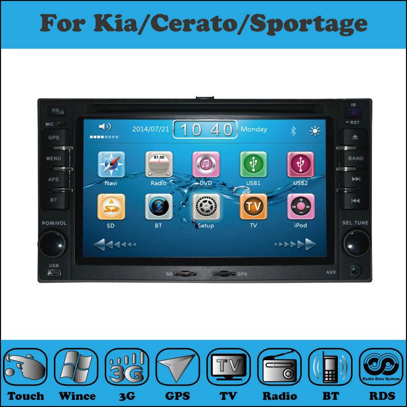 produto 2 Din 6.2 Inch Car DVD Player For Kia/CERATO/Morning/SPORTAGE/RIO 2003-2009 With 3G Host GPS 1080P BT IPOD TV Radio Free Map