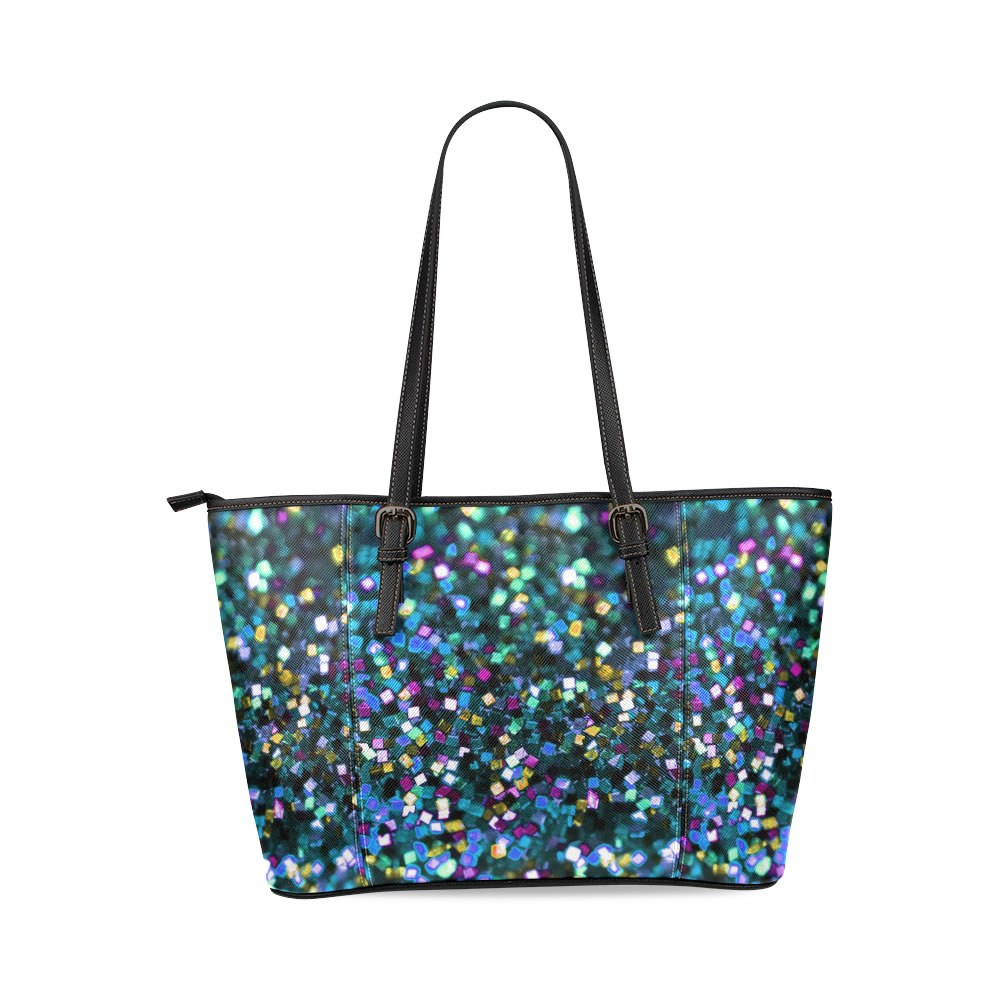 Colorful Square Glitter Printable Freebie Backgrou Tote Bag Tote Cross Bag Satchel Purse Handbags Leather Tote Bag(China (Mainland))