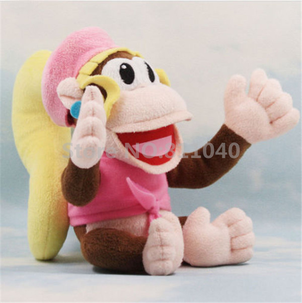 Donkey Kong Dixie Kong Super Mario Bro. Family Cute 2016 New Brand 20CM Soft Plush TOY Doll Stuffed(China (Mainland))