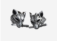 New 2015 Hottest Vintage Men Domineering Earrings titanium steel Wolf stud The black agate earring Men's jewelry Accessories(China (Mainland))