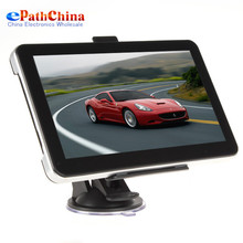 Professional 7 Inch AV In Portable Auto Car GPS Navigation Navigator System with FM Radio MP3 MP4 USB SD Built in 4GB Memory