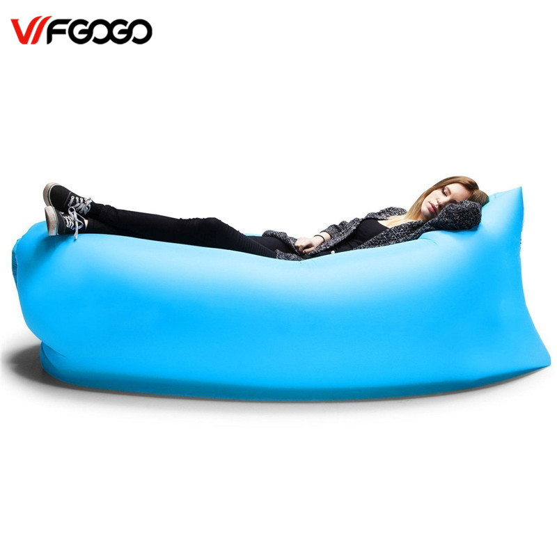 WFGOGO Lounger Fast Inflatable Sofa Outdoor Air Sleep Sofa Couch Portable Furniture Living Room Sofas for Summer Camping Beach(China (Mainland))