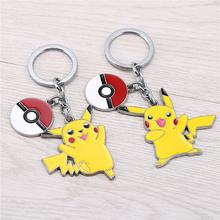 Buy JM 2 Styles Poket Go Pikachu Model Poke Ball Alloy Keychain Poket Poket Monsters Chaveiro Key Chain Ring llaveros for $1.75 in AliExpress store