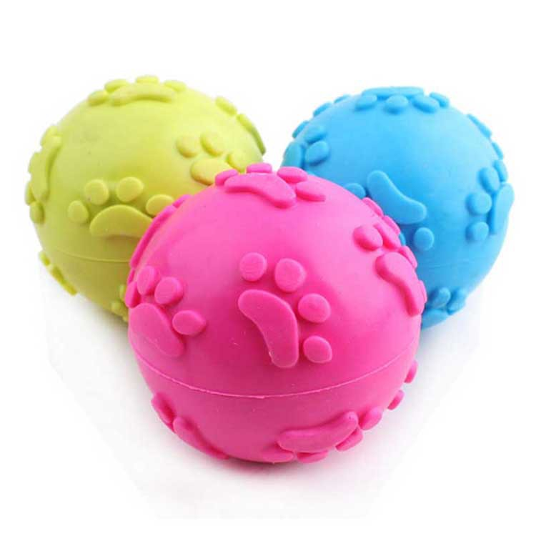 Molar teeth bite dog toys Rubber molar pet plaything Molar ball leisure pet products interactive toys rubber foot ball 6cm(China (Mainland))