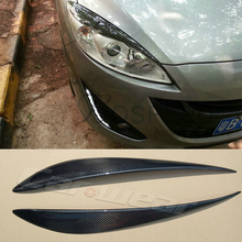 Buy Carbon Fiber Car Headlight Eyelid Eyebrows Cover Trim Sticker Mazda 5 2012-2015 Free for $35.64 in AliExpress store