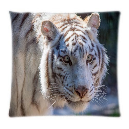 2015 Hot Sales White Tiger Comfortable&Inexpensive Pillowcases Two Sides Printed(China (Mainland))