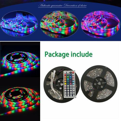 33FT 10M 2x5M RGB 3014 smd 600 LED Waterproof flexible Strip car light tape ribbon string lamp + 44Key IR remote controller(China (Mainland))