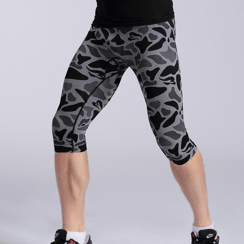 sport leggings camouflage pantalon court sexy homme fitness jogging skinny de course short. Black Bedroom Furniture Sets. Home Design Ideas
