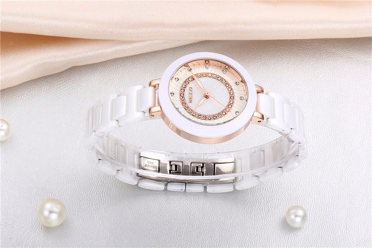 Новое Поступление K1189 100% Керамические BrandKEZZI Дамы Наручные Часы Кристалл Камень Керамические Часы Женщины бесплатная доставка