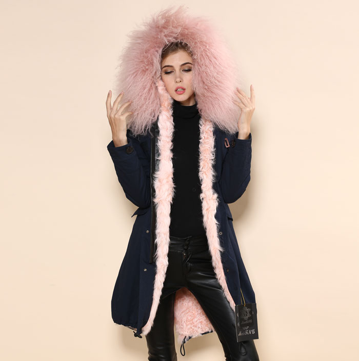 Ladies Fur Parka Coat