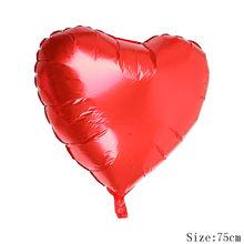 75 سنتيمتر الأحمر الوردي الذهب القلب بالونات الألومنيوم نفخ عيد الحب بالون الزفاف عيد ميلاد الحزب الديكور Globos الإمدادات(China)
