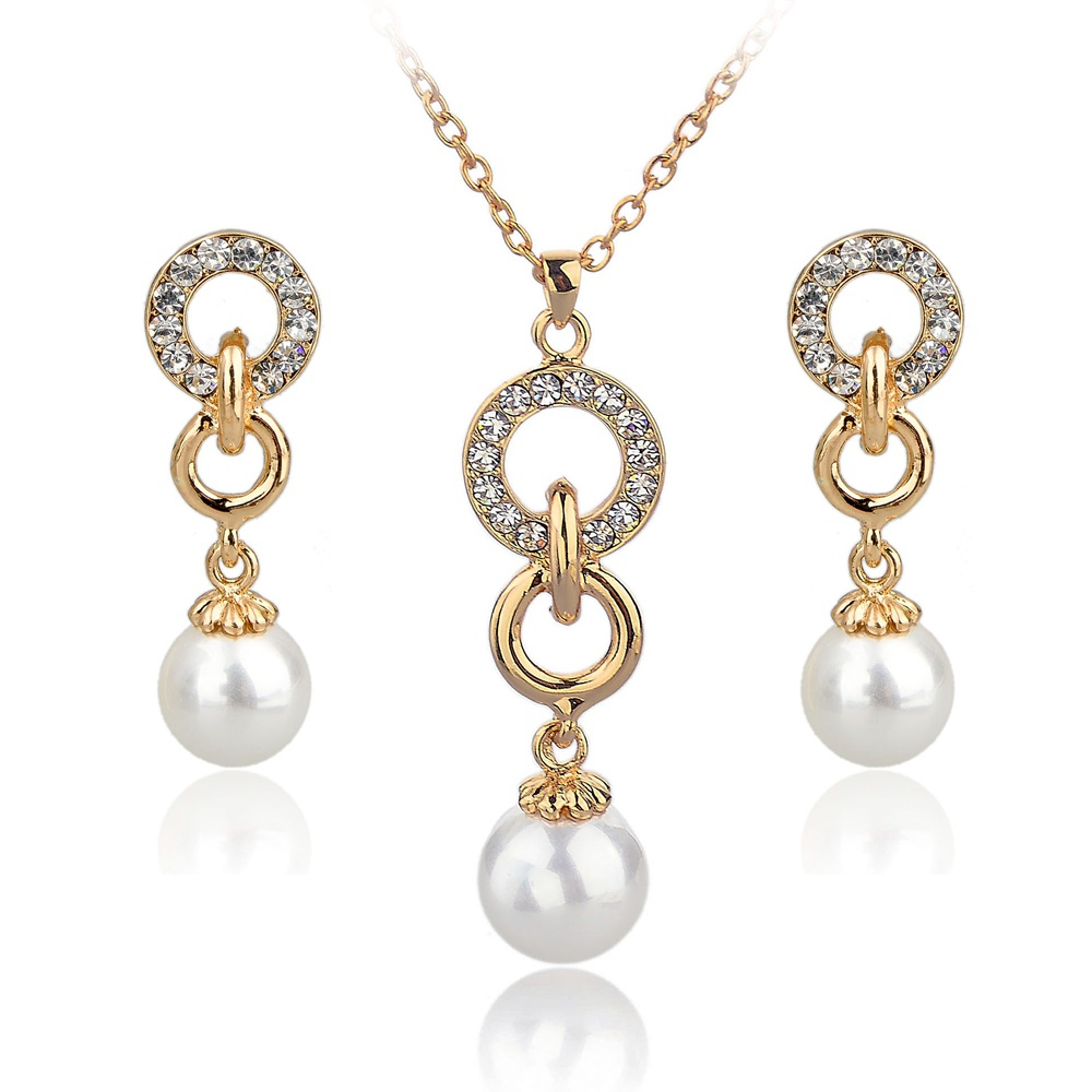 Buy fashion gold plated earrings necklace for Is gold plated jewelry worth anything
