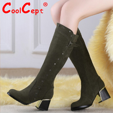 Tamaño 30-49 mujeres del alto talón sobre la rodilla botas damas botas ecuestres militares moda bota de la nieve calzado cálido invierno zapatos P19476(China (Mainland))