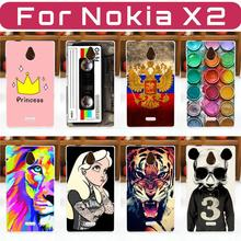 HOT! FOR Nokia X2 Dual SIM X2DS Case Cover, Fashion Painted Cell Phone Protective Back Case Cover FOR Nokia X2