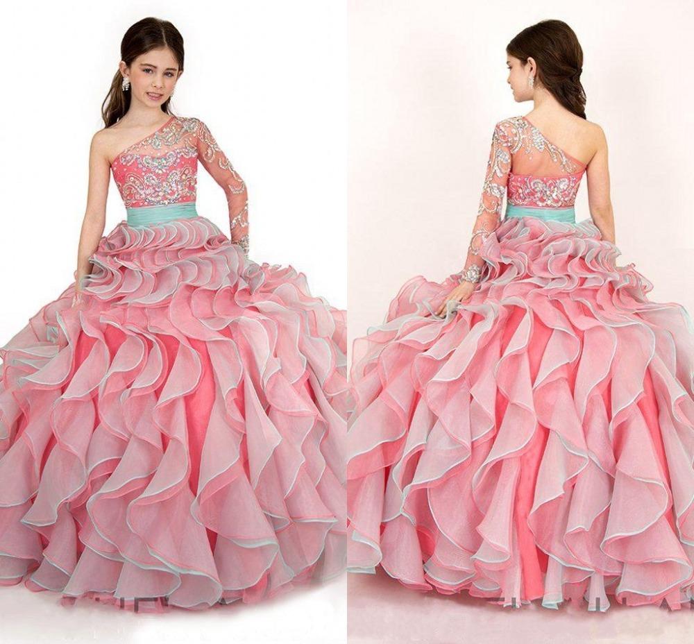 fashion floor length flower girl dresses
