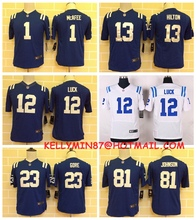 100% Stitiched,Indianapolis Colts,Andrew Luck,Reggie Wayne,for youth,kids camouflage(China (Mainland))