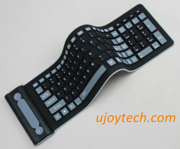 New Flexible 2.4G Foldable Mini Wireless Silicone Keyboard for PC Laptop Computer Waterproof Dust-free Noiseless Free Shipping