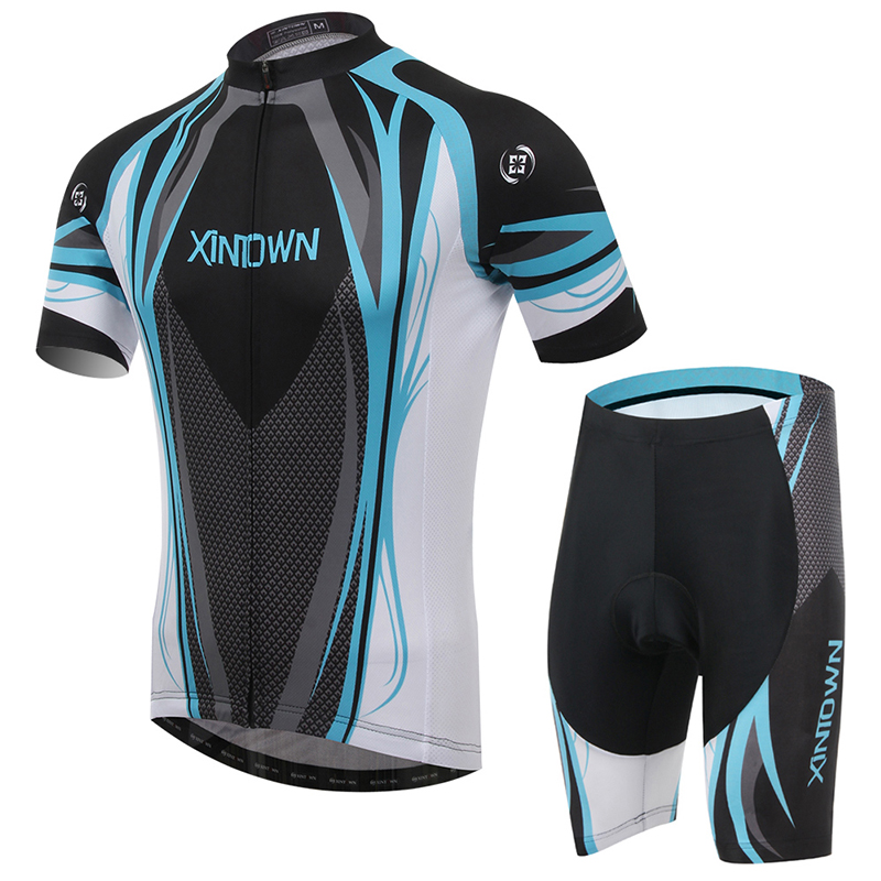 2016 Blue Breathable Cycling jerseys /Quick-Dry Ropa Ciclismo Bike Jerseys Cycling Clothing Bicycle Sportswear Cycling Sets(China (Mainland))