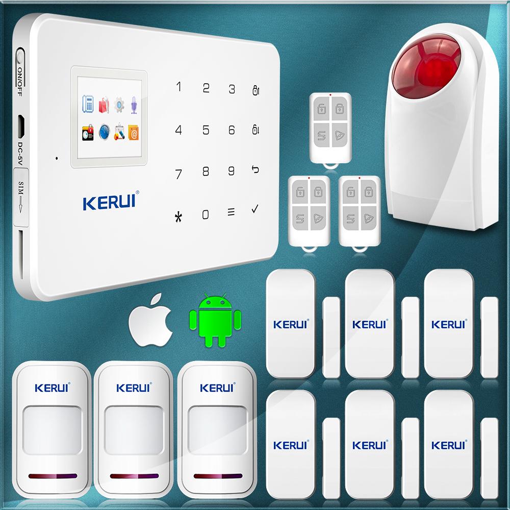 Гаджет  Free Shipping Wireless Home GSM SMS Alarm System House Intelligent Burglar Security Alarm System Android APP None Безопасность и защита