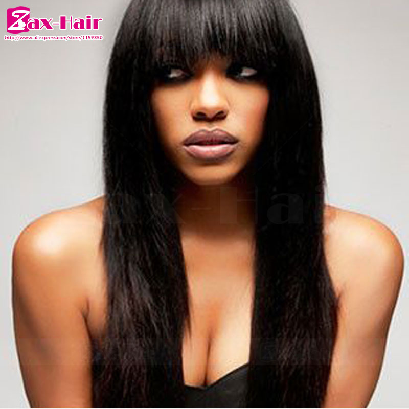 Фотография full lace wig hot sale Grade 7a lace front closure for black women customized brazilian virgin bleached knots baby hair 100%
