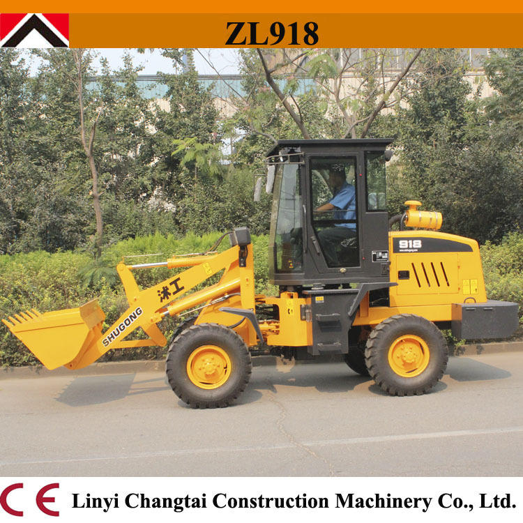 Hot sale ! China mini wheel loader for sale 37HP 1.8 ton ZL918A for Europe market!(China (Mainland))