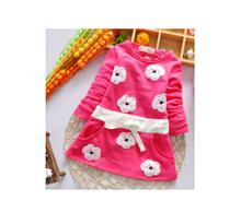 2015 Spring Autumn Baby Girls Dress long Sleeve Cute Beautiful Kids Dresses Casual Straight Dresses Cotton100%(China (Mainland))