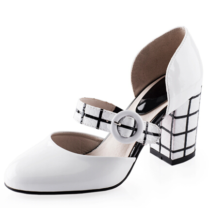 ENMAYER  New Women shoes Pointed toe Buckle high heels Pumps  Fashion Platform pumps Sexy shoes pumps hot<br>