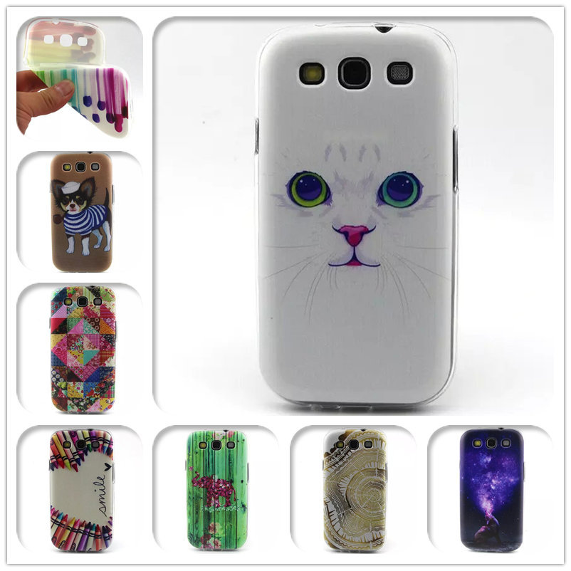 Cute Dog Fruit Design TPU For Samsung Galaxy S3 Siii I9300 9300 Phone Protective Back Soft Cases Cover(China (Mainland))