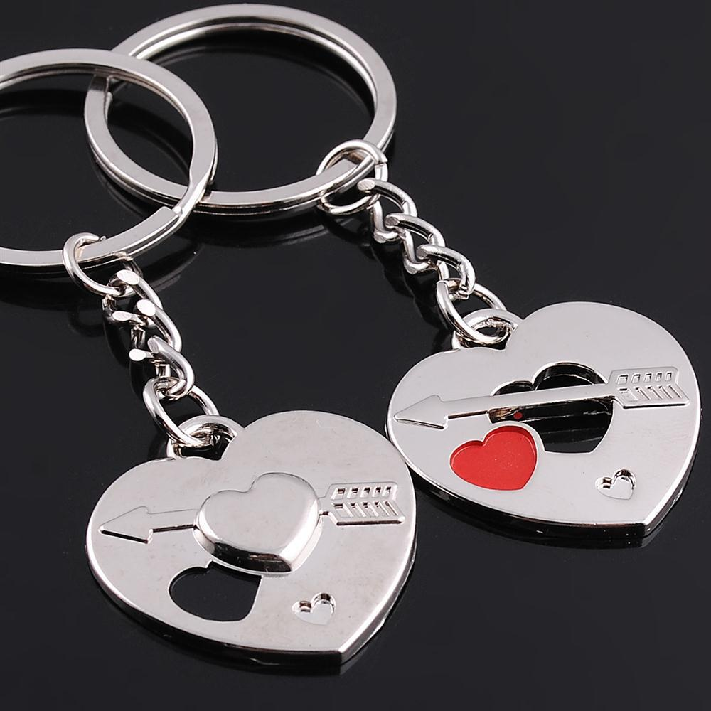 Free shipping 200pcs=100pairs/lot Wholesale zinc alloy heart shaped lover keychain keyring for wedding party supplies(China (Mainland))