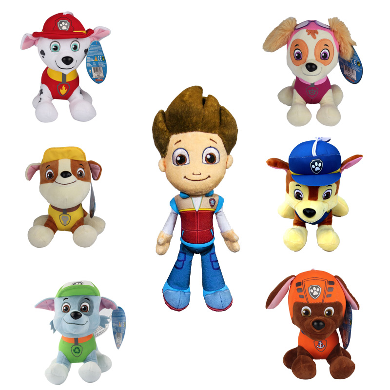 20-30cm Canine Patrol Dog Toys Russian Anime Doll Action Figures Car Patrol Puppy Toy Patrulla Canina Juguetes Gift for Child(China (Mainland))