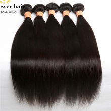 Top quality 5pcs/lot  Eurasian virgin hair unprocessed straight human hair weave from one donor natural color can be dye