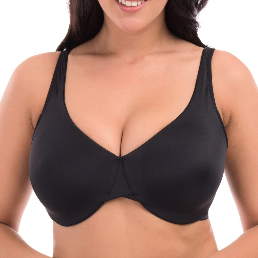 6 Colors Full Cup Underwire Minimizer Bra Non Padded Seamless Underwear Solid Sexy Lingerie 34 36 38 40 42 C D DD DDD F W417(China (Mainland))