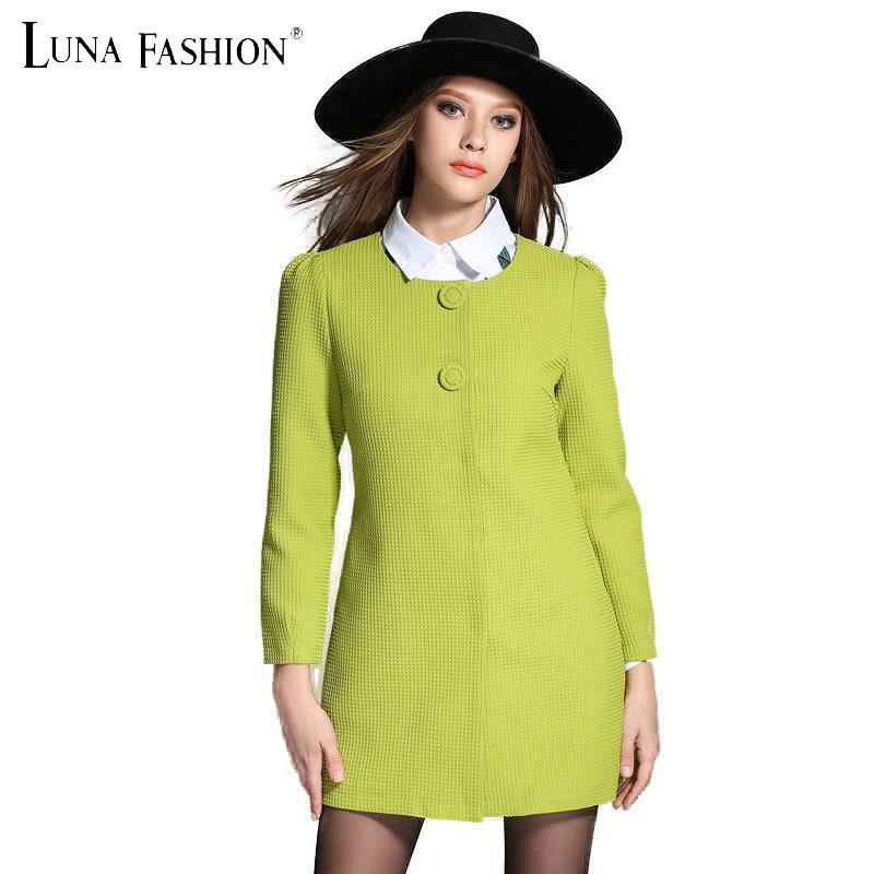 5XL 4XL 3XL 2XL autumn 2015 womens fall fashion plus size women clothing long sleeve trench coat red green  -  Luna Fashion store