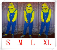 Despicable Me Minion Romper Onesies Pajamas Jumpsuit Hoodies Adults Cosplay Costumes for Halloween and Carnival