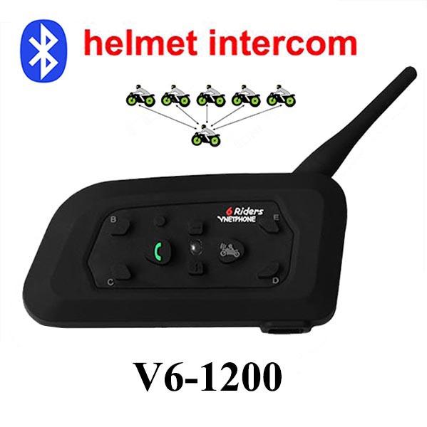 Free shipping 2 x 1200M Motorcycle Bluetooth Helmet Intercom upto 6 riders BT Wireless Waterproof Interphone Headsets MP3(China (Mainland))