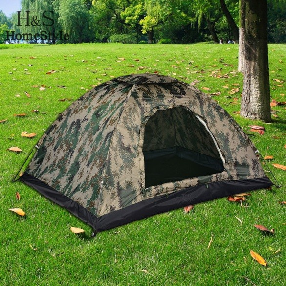 2-3 Person Rainproof Windproof Hiking Outdoor Camping Tent(China (Mainland))