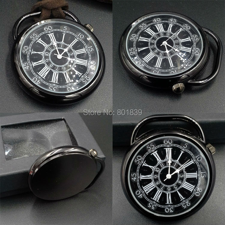 20PCS A LOT Luxury Antique Style Big Face Black Dial Quartz Mens Pocket Watch Xmas Gift Wholesale Price H127<br><br>Aliexpress