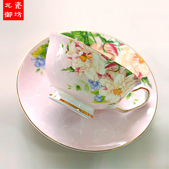 220ML, fine bone china vintage tea cup set, craft tea cup with saucer, porcelain coffee cup, cafeteira porcelain cup and saucer(China (Mainland))
