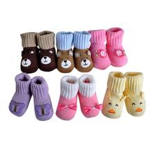 Cotton Baby Socks Newborn Socks Cartoon Printed Cute Bear Pattern Warm Soft Kid's Socks 0-6months Baby Accessories