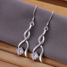 E182 wholesale, silver stars earrings,with crystal hight quality,fashion/classic jewelry, Nickle free,factory price(China (Mainland))