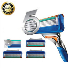 J023 AAA+ Quality 5 layers-Blade Razor Blades For Men Shaving Face Care 4pcs/lot Fast Delivery(China (Mainland))
