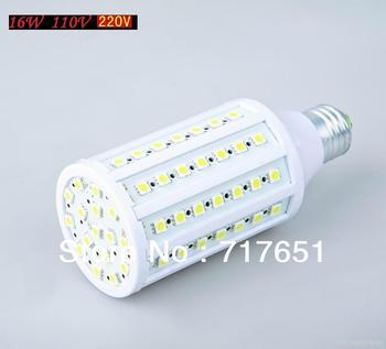 E27 PC 15W 110V/220V 1600LM 86LED SMD5050 6000K Pure/Warm White LED Corn Lamp Light Bulb