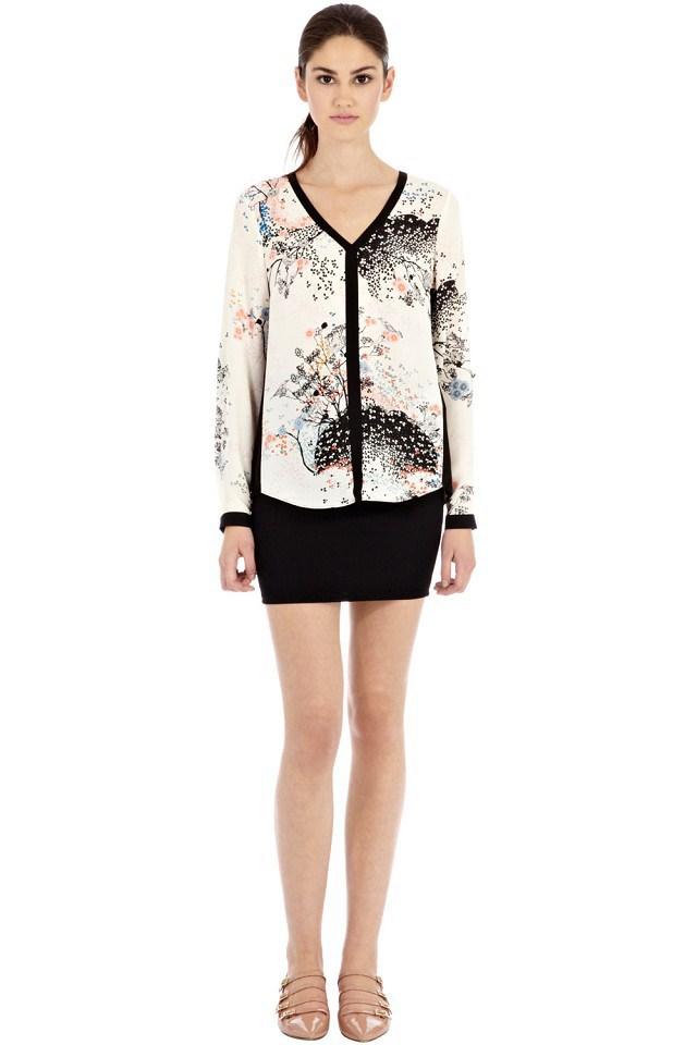 Spring New Fashion Women European Style V Neck Vintage Floral Printed Blouses Femininas Blusas