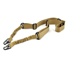 1Pcs Outdoor Sling Bungee Adjustable 2 Point Sling Hunting Strap Bungee Hunting Accessories Khaki(China (Mainland))