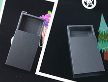 50PCS/Lot Black Darawer Box Paper Carrying Cases Blank Gift boxes Drawer Box Gift Craft Power Bank Packaging Cardboard Boxes